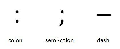 When To Use Colon Semi Colon And Dash